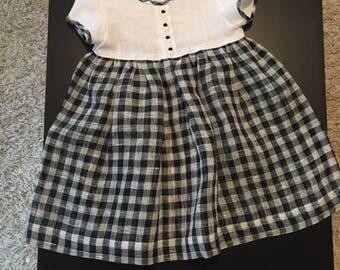 100% Linen Handmade Dress !SALE!