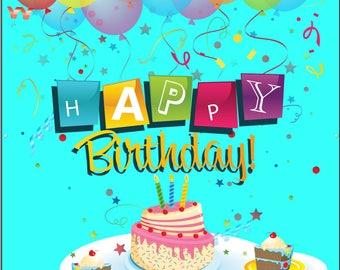 Happy Birthday Banner - Vinyl