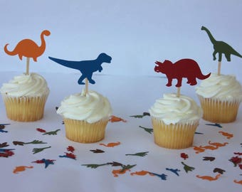 Dinosaur Party Supplies - Dinosaur Cupcake Toppers - Dinosaur Cupcake - Dinosaur Birthday Party - Dinosaur Birthday Party Decorations