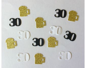 Cheers and Beers to 30 Years-30th Birthday Decoration-30th Birthday for Him, 30th Birthday for Her-Mens Birthday Party Decor-30th Birthday