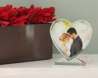Personalized Heart Shaped Crystal