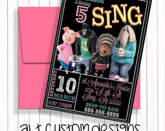 Sing Birthday Invitation - Sing Birthday Party - Sing Birthday - Sing Invitations - Sing - Sing Birthday Party Invitations