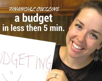 Financial Outline - Budgeting Tool - Excel