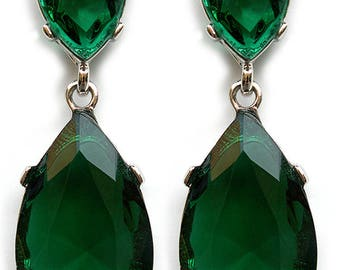Angelina Jolie Inspired Emerald Earrings