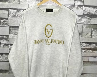 Vintage Gianni Valentino Spell Out Embroidered sweatshirts size Medium M / Gianni Valentino sweatshirt / Gianni Valentino hoodie