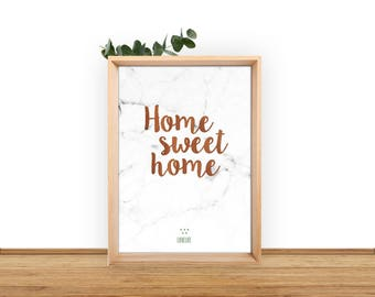 """Poster """"Home Sweet Home"""""""