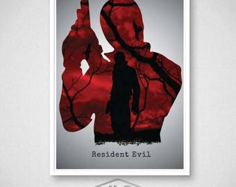 ON SALE Resident Evil Video Game Poster, Leon Print