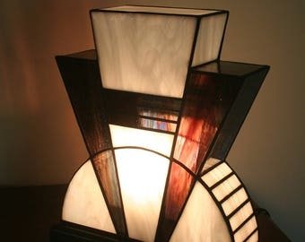 Lamp Art Deco stained glass Tiffany