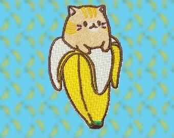 Embossed edge Tabby Bananya patch