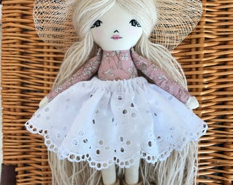 RESERVED for @mumandthebeauties Handmade Doll Rag Doll Cloth Doll Fabric Doll Fall Doll