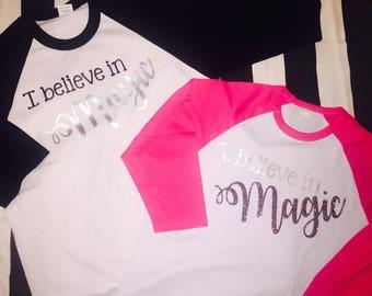 I believe in magic raglan