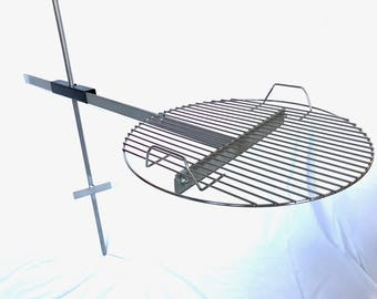 Campfire Grill, Fully Adjustable, with 17 inch Grate