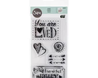 Fall Clearance: Sizzix Clear Stamps - You Are Loved  660643