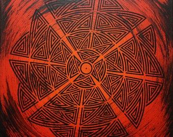 Modern painting: tribal Orange.