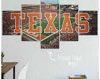 Texas Longhorns Football Canvas Art Print - Special Edition!