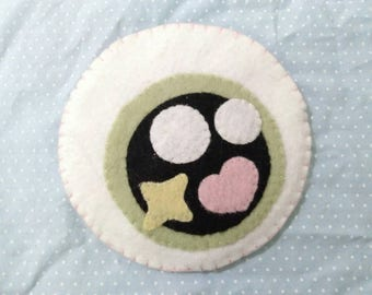 Creepy Cute/Pastel Goth/Fairy Kei Kawaii Felt Eye Pouch/Coin Purse