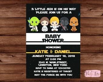 Star Wars Baby Shower Invitation - Galaxy Wars Baby Shower invitation -Star Wars Baby Shower - Baby Shower Invitation - Star Wars Invitation