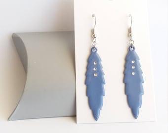 Earrings dangling blue, chic earrings, earrings, cheap earrings leaf earrings diy
