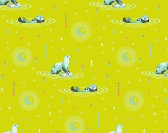 Otter and Chill Sun Kissed from Spirit Animal range by Tula Pink 112cm wide x 25cm