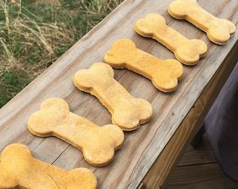 Pumpkin and Peanut Butter Bones Healthy Dog Treats