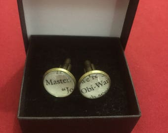Star Wars Master Obi-Wan cufflinks