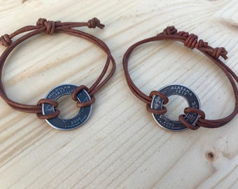 Coin Bracelet • Couples Bracelet • Coin Jewelry • Unique Gifts •
