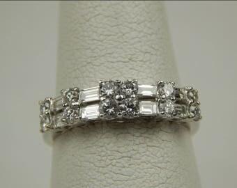 18k 1 Ctw diamond band ring #10037