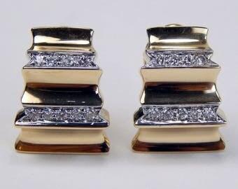 14k gold .50 Ctw diamond earrings #10313