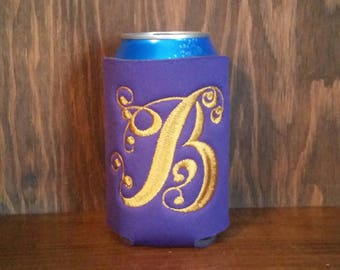 Monogram Can Coolers, Custom Can Cooler, Monogram Embroidered Can Cooler, Monogram Can Coolers, Monogram Cozie,