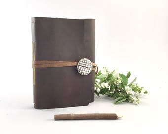 Rustic Leather Idea Journal, Leather Idea Notebook, Leather Idea Book, Blank Leather Journal, Blank Leather Diary