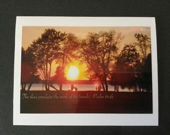 Nature Photo Card - Sunset