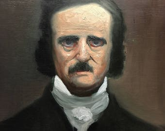 Edgar Allan Poe - Oil Painting