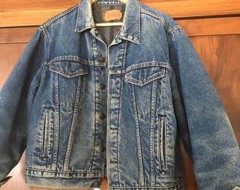 Levi's Denim Original 80's Vintage Blanket Lined Denim Jacket Size 46 Size Men's Large