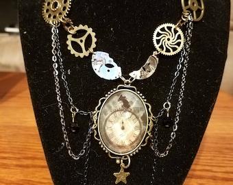 Steampunk, multi-strand necklace