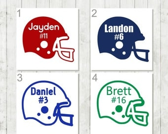 Football Decal, Football Helmet Decal,Football Team Decal, Football Car Decal, Sports Team Gift, School Sports Decal, Helmet Monogram Decal