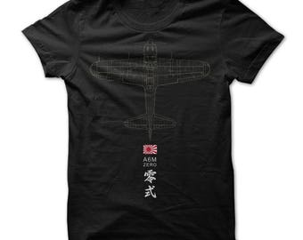A6M ZERO T-shirt.carrier-based fighter aircraft,a6m zero fighter aircraft t-shirts,military aircraft t-shirts,am6 zero aircraft fans gift.