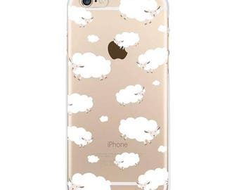 Counting Sheep iPhone 6s transparent case, iPhone 6 case clear soft bendable case