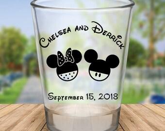 Custom Disney Themed Wedding Favor Shot Glasses