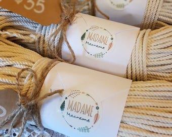 100m Macrame / Macrame cord / Macrame rope / Twisted cotton cord / Cotton rope / craft rope / 3mm