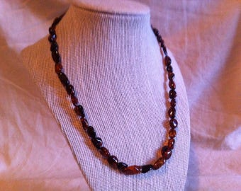 red/brown amber necklace