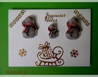 """3D """"Snowman"""" Christmas card"""