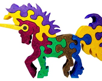 Puzzle Wood Unicorn