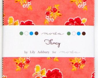 "Fancy Charm Pack by Lily Ashbury for Moda Fabrics - Charm Packs 42, 5""x5"" Squares - Cotton Precuts - Quilting Precuts - Moda Precuts Fabrics"