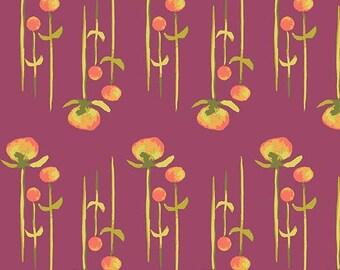 Clover 2 Poplin - Haiku 2 Collection - Monaluna Fabrics - Certified Organic Cotton - Organic Fabrics - Floral fabric - Kids Organic Fabrics