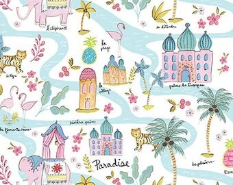 Map - Multi - Haute Zahara Collection by Dena Designs from Free Spirit - Free Spirit Fabrics - Zahara Fabrics - Fabric by Yard - Kids Fabric