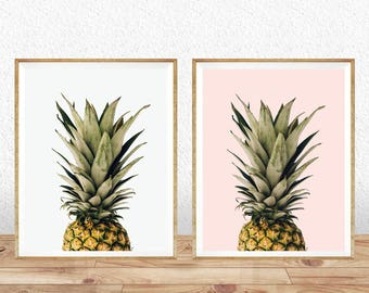 Pineapple Print, Printable Pineapple, Wall Art, Kitchen Decor, Watercolor Pineapple, Tropical Print, Pineapple Poster, Best Selling Items