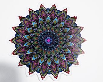 Psychedelic Mandala Sticker