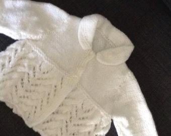 Baby girls collared cardigan