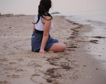 Printable Beach Art, Fine Art Photography, Girl On Beach Photo, Landscape Photography, Faceless Female Portrait, Dreamy Wall Art, Home Decor