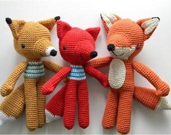 Fox Pica Pau crochet doll - Handmade decorated dolls - Christmas Gifts - crochet doll - stuffed doll - handmade doll - Interior doll [D15]